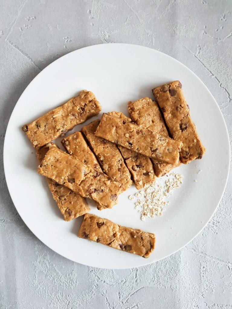 Granola bars  on plate