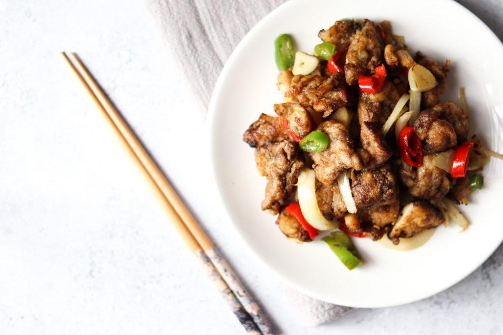 Homemade salt n pepper chicken recipe.