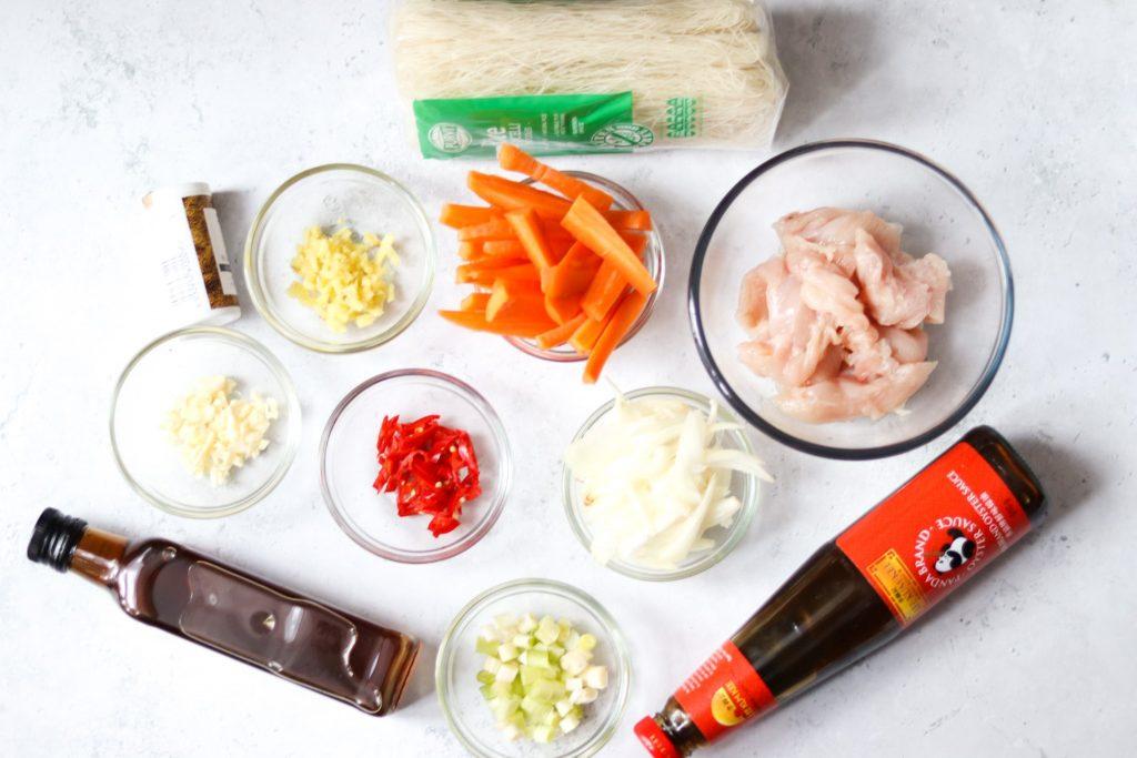 Chicken vermicelli recipe ingredients