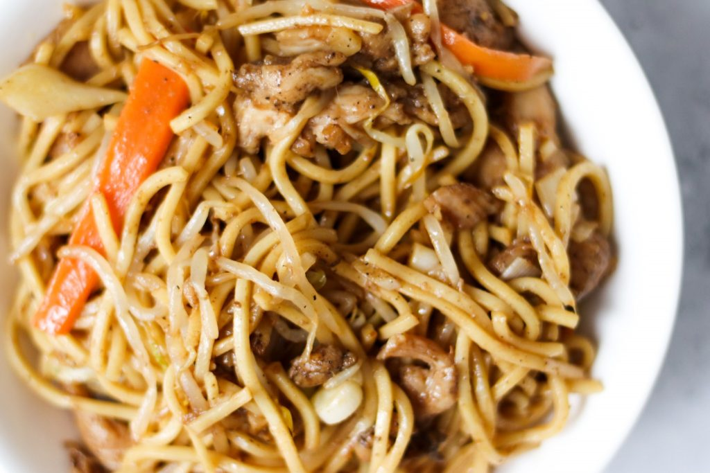 Homemade chow mein with this Chinese style UK recipe.