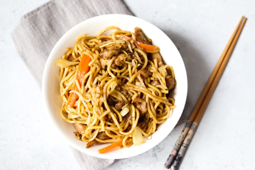 How to make chicken chow mein like the takeaway with this recipe.