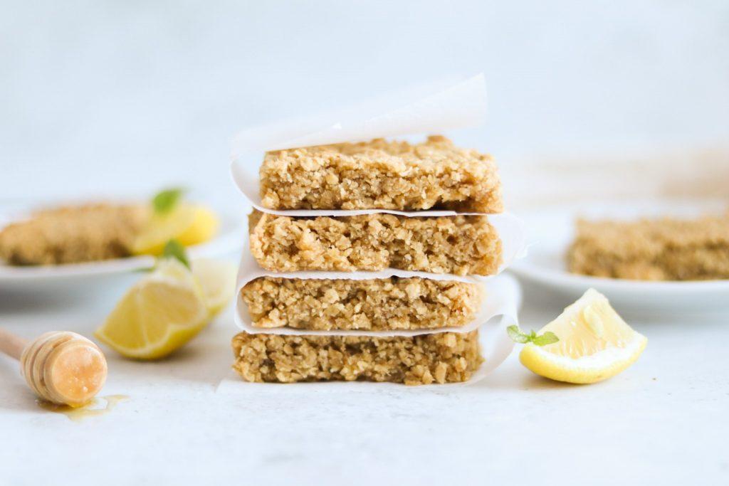 Easy lemon flapjack recipe
