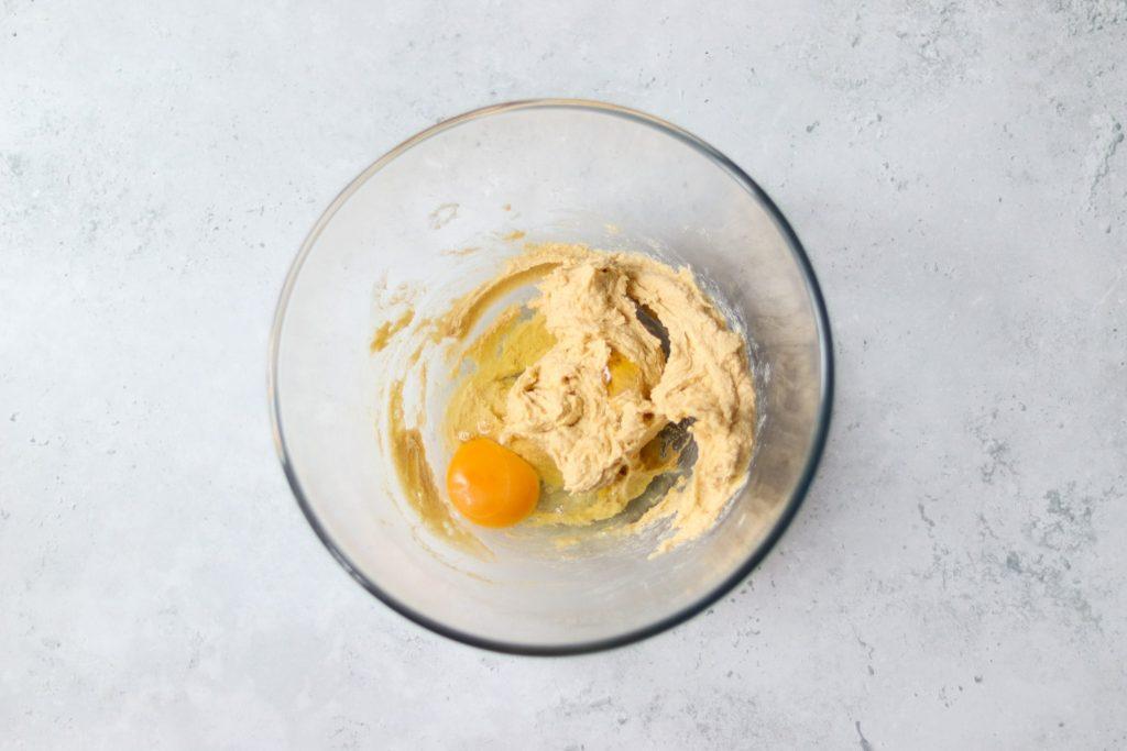 Add egg and vanilla extract