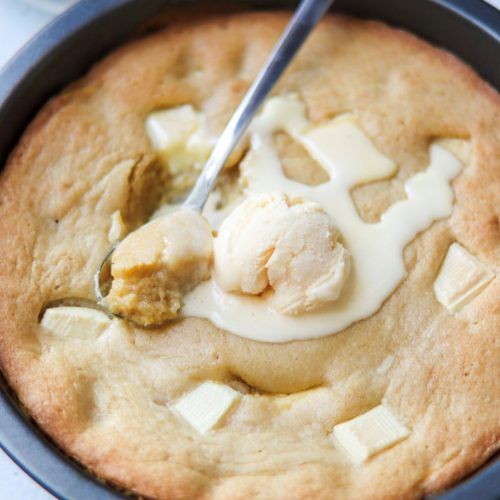 How to make hot cookie dough with white chocolate