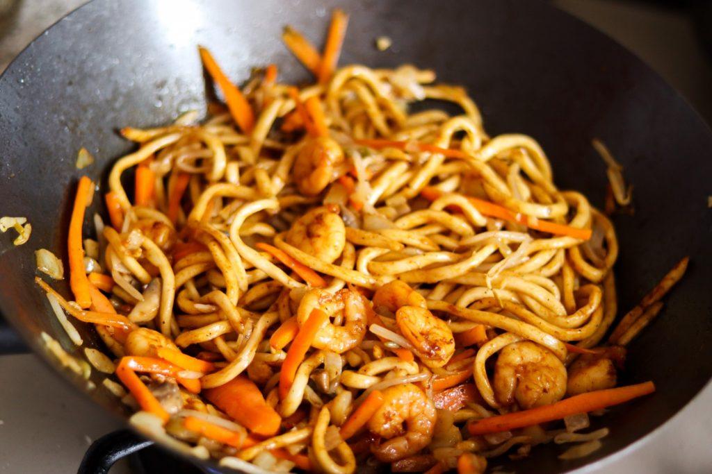 Homemade stir-fry noodles